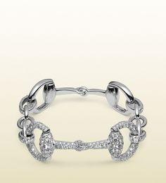 Gucci | Horsebit Diamond Bracelet in White Gold