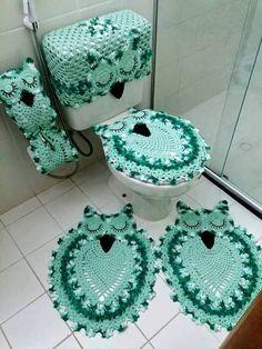 Jogo de Banheiro de Crochê com Gráficos: Passo a passo