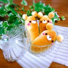 Bear Bread w/ Ears! Cute Food, Yummy Food, Kawaii Cooking, Japanese Food Art, Buffet, Kawaii Bento, Bread Shaping, Bread Art, Cute Buns