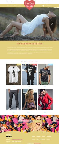 Fashion Trendz - Flat Clean E commerce Template PSD