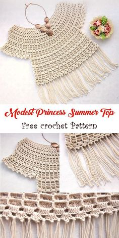 What an easy yet amazing summer top to try this year free crochet pattern linked crochet summer pattern freepattern crochetpattern Col Crochet, Gilet Crochet, Crochet Girls, Crochet Woman, Crochet Blouse, Crochet For Kids, Crochet Stitches, Easy Crochet, Knitting Patterns Free