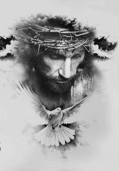 Come Christ Christ - Tattoo ideas - - - Pictures Of Jesus Christ, Religious Pictures, Religious Art, Jesus Tattoo, Bible Tattoos, God Tattoos, Jesus Drawings, Tattoo Drawings, La Familia Tattoo