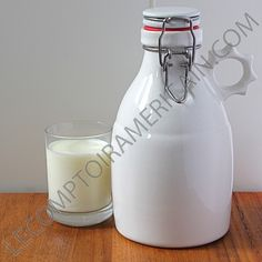 GROWLER GLOSS WHITE  32oz (0.960L) made in USA