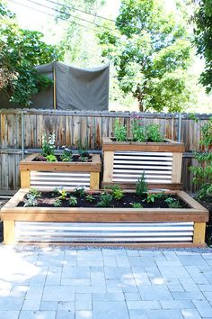 Raised Herb Garden via @Maria Canavello Mrasek (Two Peas and Their Pod) -- how gorgeous is this?