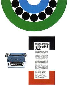 Olivetti 84 Advertising designed by Giovanni Pintori - 1959