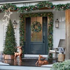 Celebrate the season in style with the selection of indoor and outdoor Christmas decorations at Grandin Road. Shop for unique Christmas decorations online.