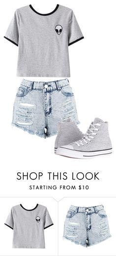 """Untitled #175"" by cruciangyul on Polyvore featuring Chicnova Fashion, Boohoo and Converse"
