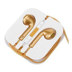 Fone de Ouvido EarPods Dourado para Celular