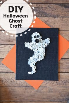 Grab some simple craft supplies and let's create this DIY Halloween Ghost Craft. Spooky, fun, and creative, this homemade card is great for giving gifts this fall. Plus, grab some Bounty Paper Towels for unexpected crafting messes.