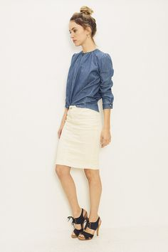 LEXI IN A RACHEL COMEY TOP AND CLOSED SKIRT | SHOPHEIST.COM