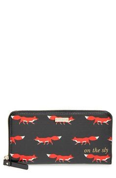 kate spade new york 'cedar street - foxes lacey' zip-around wallet available at #Nordstrom
