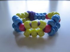 Bracelet with pipe cleaners and beads.