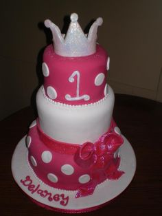 baby girl 1st b-day cake
