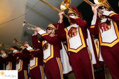 la canada flintridge wedding pictures USC Marching Band