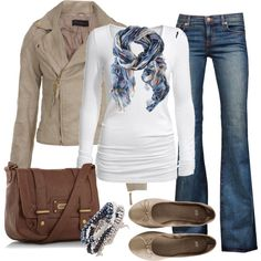 "I really like the scarf & bracelet - I think it ties it all together -   ""Untitled #242"" by ohsnapitsalycia on Polyvore"