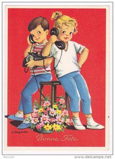 couple enfants - Delcampe.fr