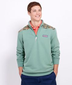 Shop Pullovers for Men: Green Woods Shep Shirt For Men - Vineyard Vines (Look closely at the camo!)