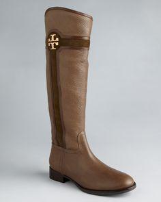 Tory Burch Flat Tall Boots - Alaina | Bloomingdale's