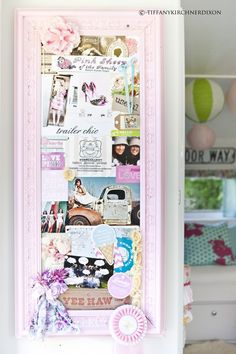 pin board for all those memories