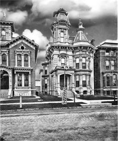 1881 - George Jerome home in historic Brush Park Detroit. Details INK: High density archival pigments PAPER cotton, museum quality, matte finish Printed on professional archival paper and is frame ready The print is shipped in a secure USPS mailer Victorian Architecture, Architecture Old, Haunted Places, Abandoned Places, Old Victorian Homes, Victorian Houses, Victorian Decor, Detroit Neighborhoods, Detroit History