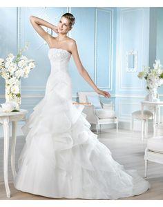 Vestitini bianchi Moderno Senza Maniche Abiti da Sposa Design