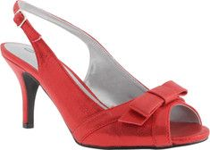 Annie Lisa Slingback - Red Satin with FREE Shipping & Exchanges. The Lisa is a dressy slingback sandal with an adjustable strap, a