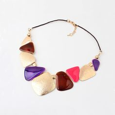 #Resin #Necklace, with #Nylon #Cord & Resin.