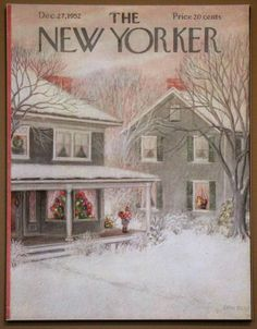 New Yorker Christmas Cover 1952