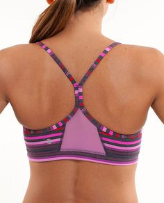 I like the fun colors on this Flow Y Bra IV by Lululemon.