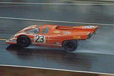 Hans Herrmann / Richard Attwood - Porsche 917 - Le Mans 24 Hours - 1970