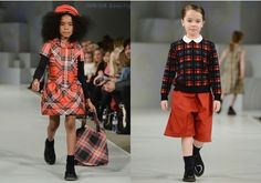 winter fashion plaid trend for girls