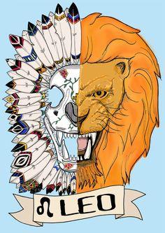 FRIDA KAHLO, leo Limited edition zodiac sign, Original Illustration, Fine Art Print, feather headress by CorazonBeats on Etsy https://www.etsy.com/listing/227411587/frida-kahlo-leo-limited-edition-zodiac