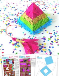 Make your own mini pinata with Happythought patterns and tutorials!