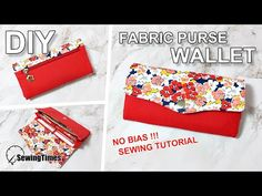 I made fabric purse wallet today. Diy Wallet Purse, Sew Wallet, Clutch Bag, Tote Bag, Wallet Sewing Pattern, Pocket Pattern, Tote Pattern, Pattern Fabric, Coin Purse Tutorial