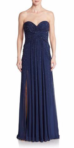 La Femme | Bejeweled Sheath Gown | SAKS OFF 5TH