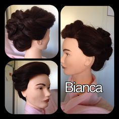 Hair: Kim Ikonen Jennings braided updo, bridal updo