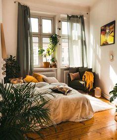 Boho Bedroom Home . - boligindretning diy, Boho Bedroom Home . Dream Rooms, Dream Bedroom, Home Bedroom, Modern Bedroom, Contemporary Bedroom, Master Bedroom, Earthy Bedroom, Bohemian Bedroom Decor, Warm Bedroom Colors
