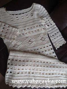 Платье в филейной технике крючком. Женское летнее платье крючком | Я Хозяйка