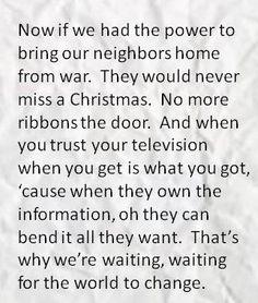 John Mayer Lyrics For Waiting On the World