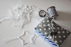 binedoro: DIY ⎟ Geschenkverpackung mit Sternen aus Draht