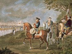 King of Prussia 1740-1786 parade of troops before Frederick II by Daniel Chodowiecki 1777