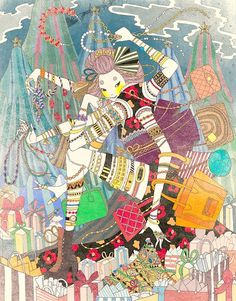 Beautiful Illustrations by New York based artist Yoko Furusho. Prints and more available in her online shop. Jewelry Illustration, Illustration Artists, Psychadelic Art, Ledoux, Yoko, Holiday Sales, Chinese Art, Illustrators, Black Friday