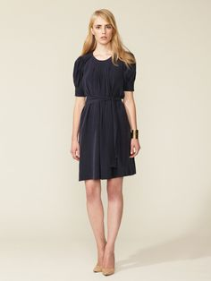 Silk Pintucked Dress by See by Chloe on Gilt.com