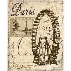 Paris Collage III Canvas Art - Gregory Gorham (22 x 28)