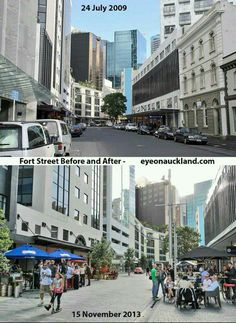 Public spaces vs. Traffic and parking zones