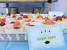 Cute Idea for Fruit Cups with Labels
