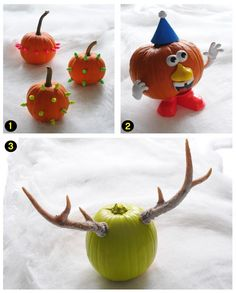 Cute #pumpkin crafts don't need to take all day! These ideas come together in 5 minutes or less. #Halloween