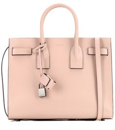 Sac De Jour Small pink leather tote