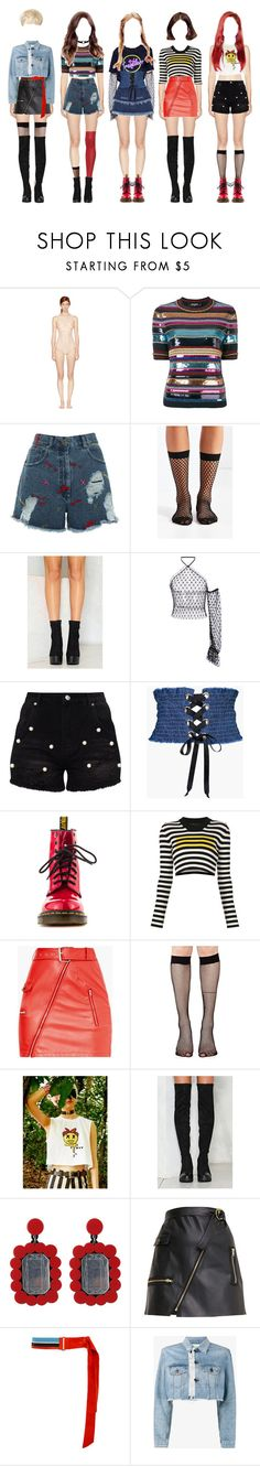"""""""Untitled #1"""" by velvetanon ❤ liked on Polyvore featuring STELLA McCARTNEY, Dsquared2, House of Holland, Out From Under, Rodarte, Nicoli, Boohoo, Dr. Martens, Marc Jacobs and Music Legs"""