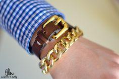 DIY Double-Loop Leather Bracelet | 9lla
